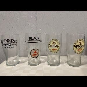 🍺🍻Guinness Pint Glasses Lot of 4 Beer Cups🍺🍻